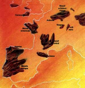 Massifs Hercyniens en Europe